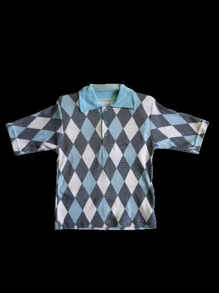 Арт. 21926, Детская рубашка цветная Поло (рибана) МИКС