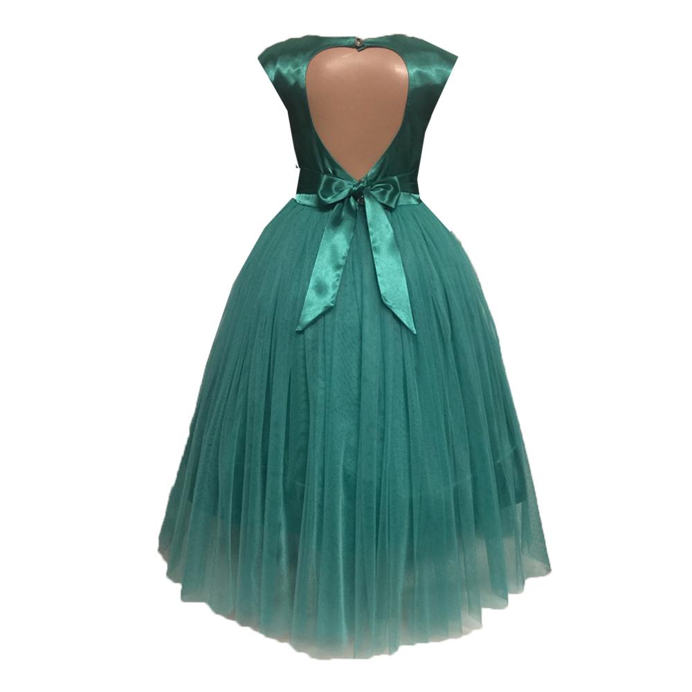 61961 Платье вечернее (атлас+фатин) МЯТНЫЙ (размер 104)