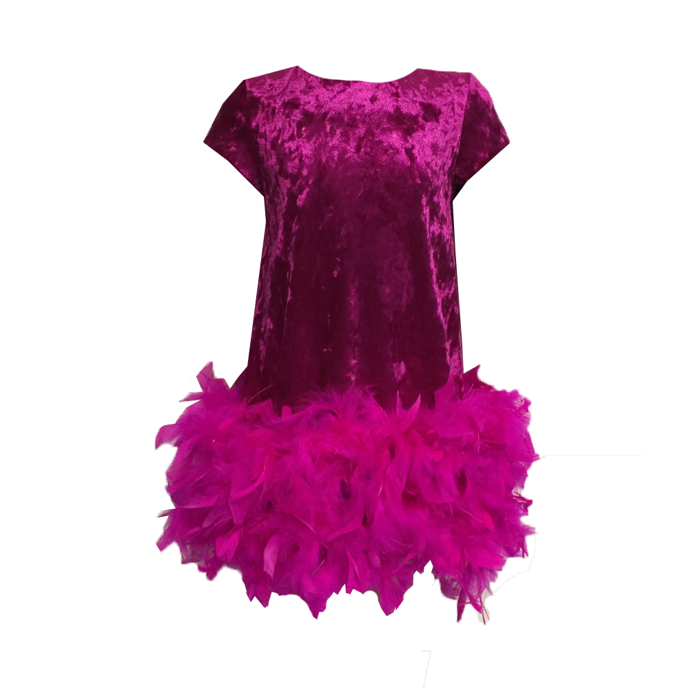 620109 Платье (бархат) МАЛИНОВЫЙ