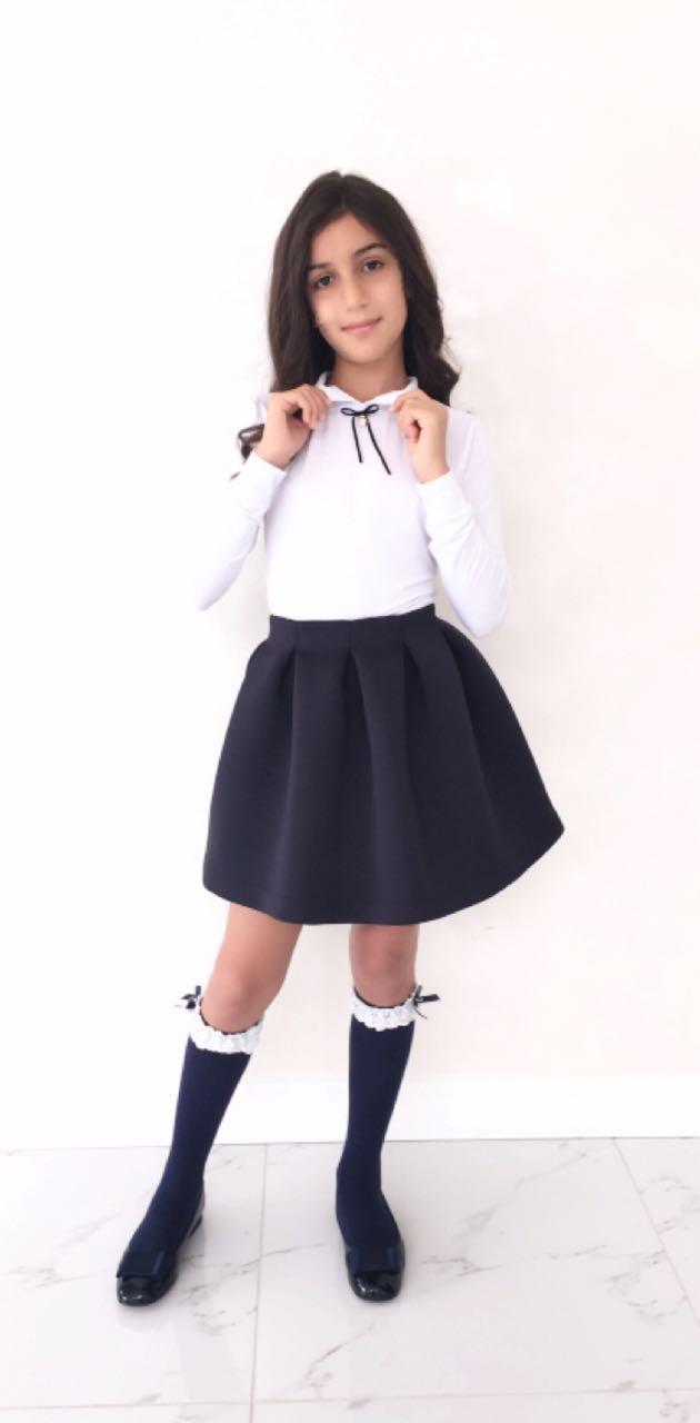 54266 Блуза для девочки (вискоза) БЕЛЫЙ