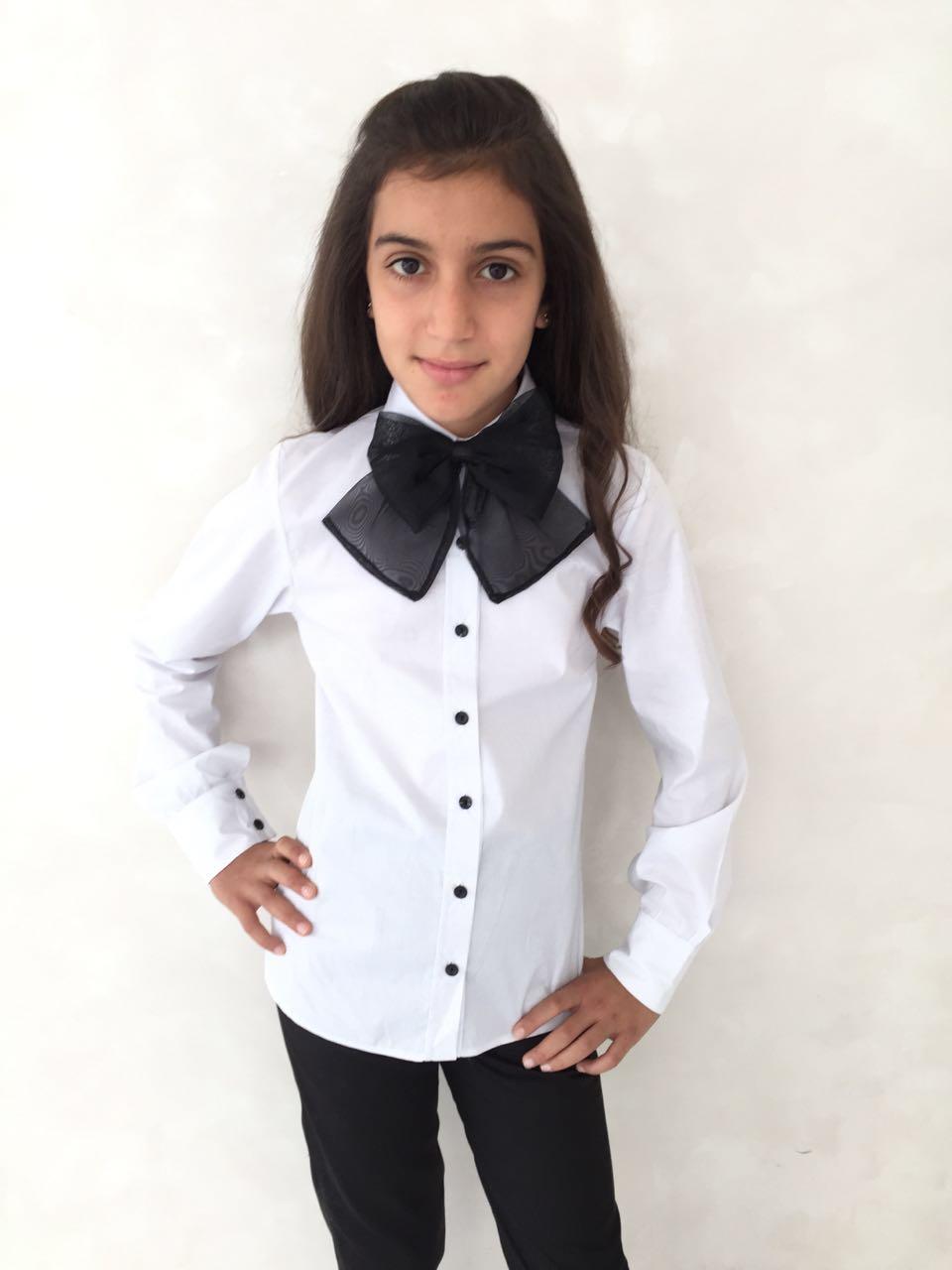 54886 Рубашка с бантом (коттон)