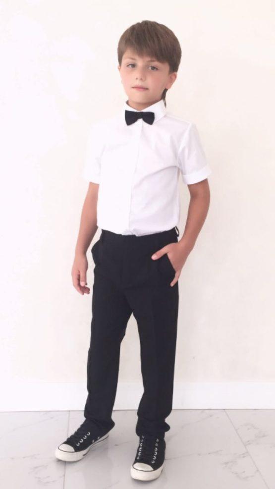 55878 Брюки для мальчика (костюмная) ЧЕРНЫЙ