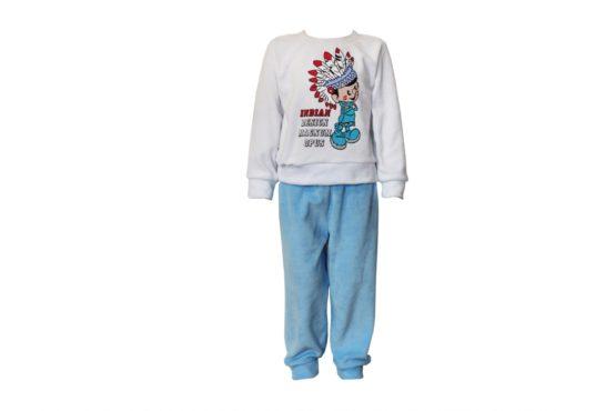 Арт. 21712, Пижама комбинированная для мальчика (велюр)