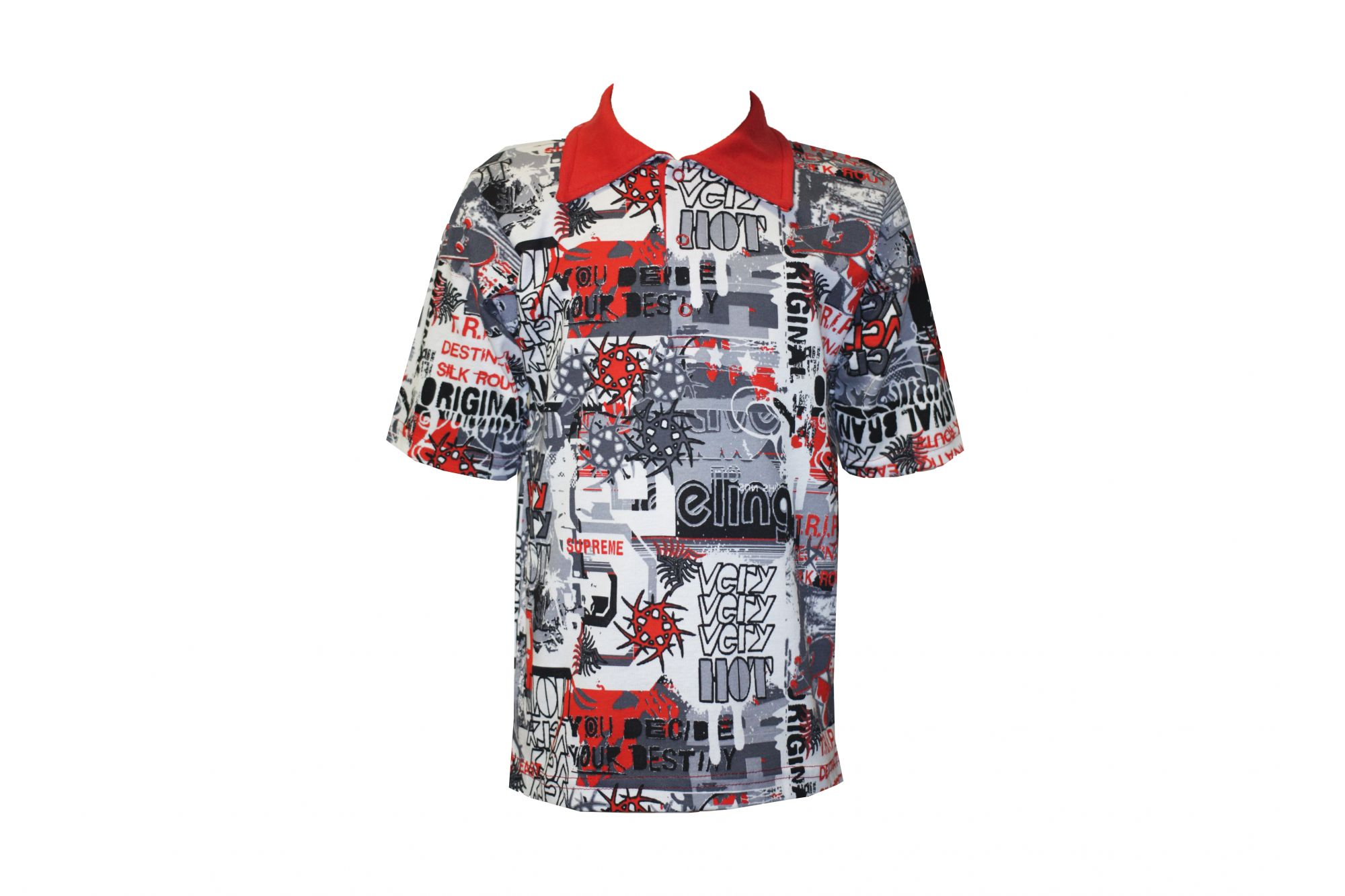 Арт. 21926, Детская рубашка цветная Поло (рибана)