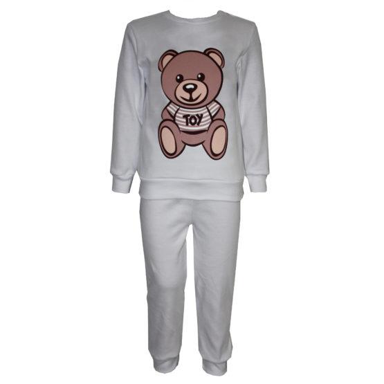 58723 Пижама с аппликацией для мальчика (интерлок) МОЛОЧНЫЙ (мишка)
