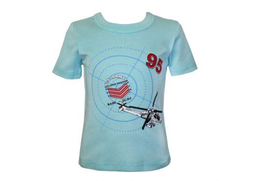 Арт. 3425, Футболка мальчиковая с аппликацией (рибана)