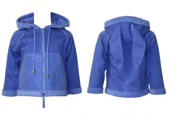 417685 Куртка на молнии «Зайчик» (велсофт+супрем)