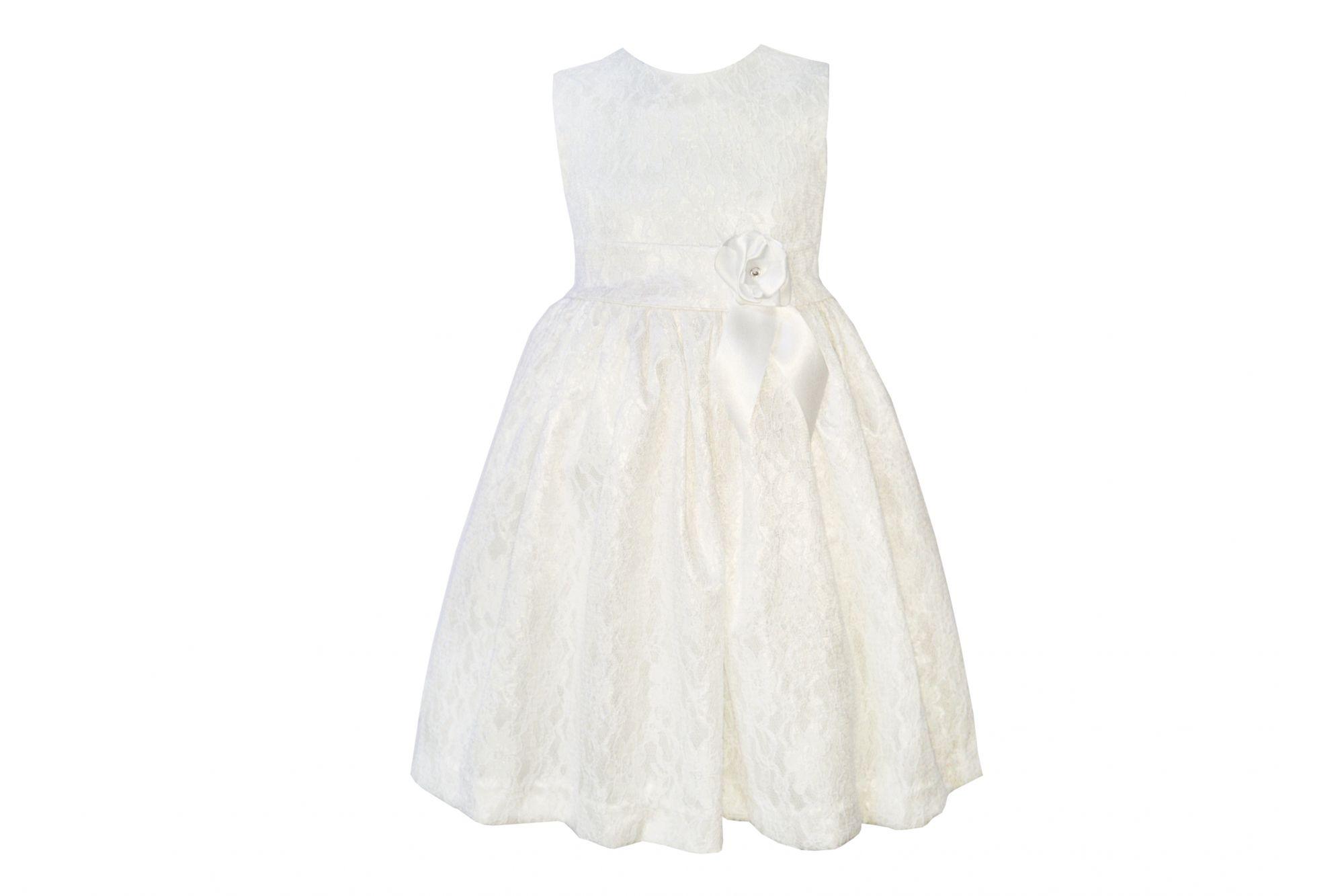 42361 Платье белое (гипюр+атлас)