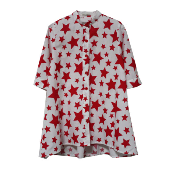 65087 Рубашка (поплин) КРАСНЫЙ