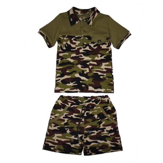 AE0823 Костюм футболка+шорты (интерлок)