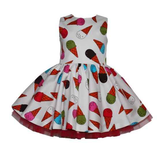 066087 Платье (поплин) МОРОЖЕНОЕ