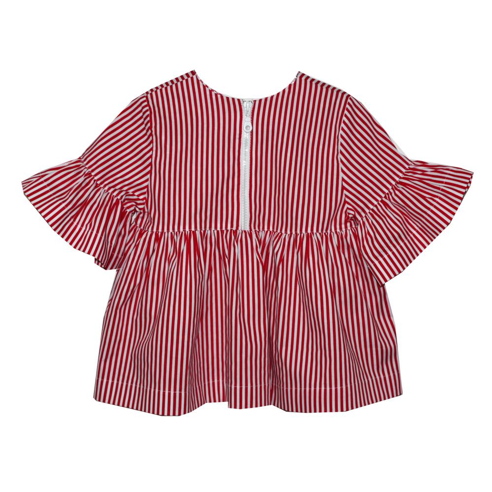 65987 Блуза на молнии (поплин) КРАСНЫЙ