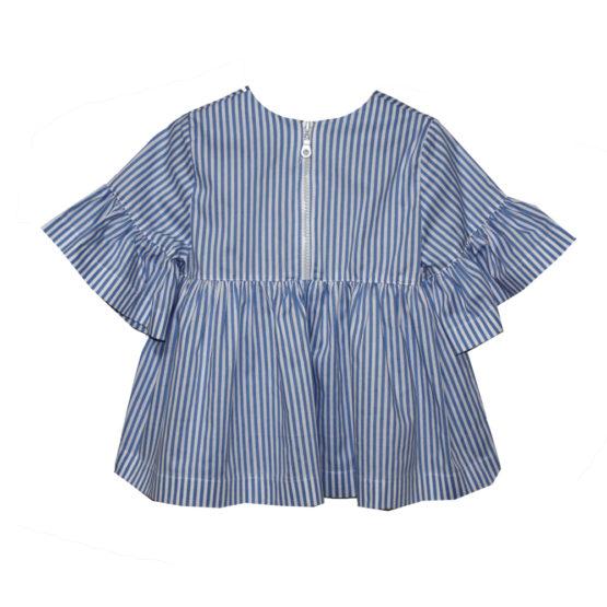 65987 Блуза на молнии (поплин) СИНИЙ