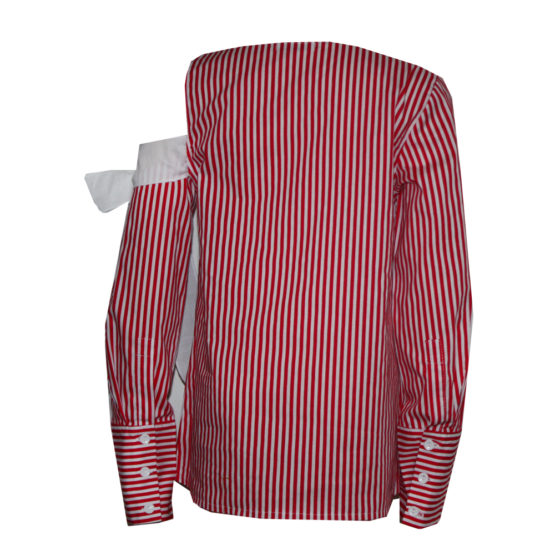65887 Блуза с открытым плечом (поплин) КРАСНЫЙ