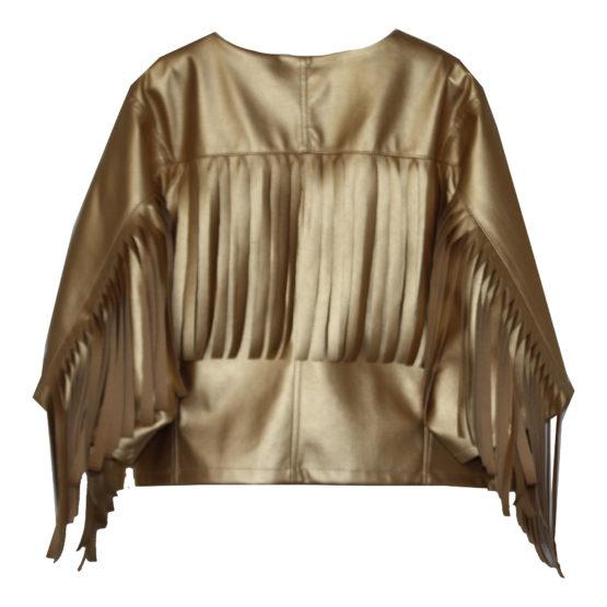 70875 Куртка с бахромой (экокожа) ЗОЛОТОЙ