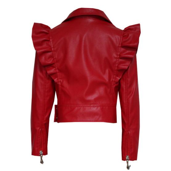 70775 Куртка с молниями (экокожа) КРАСНЫЙ