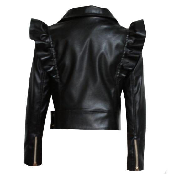 070775 Куртка с молниями (экокожа) ЧЕРНЫЙ