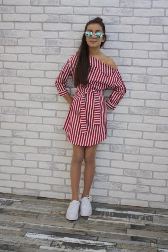 63187 Платье-рубашка (поплин)