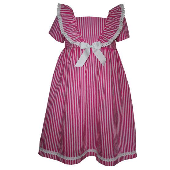 77087 Платье полосатое (поплин)