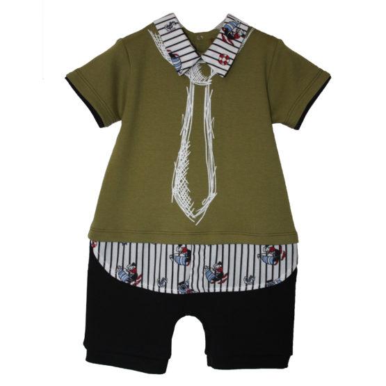80120 Песочник-рубашка (интерлок) ОЛИВКОВЫЙ
