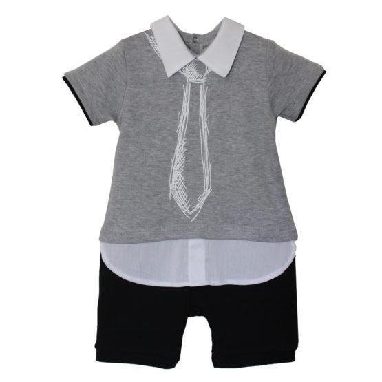 80120 Песочник-рубашка (интерлок) МИКС