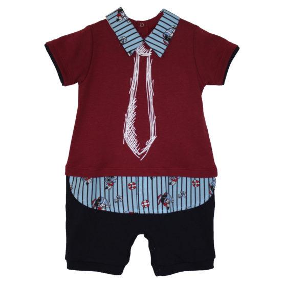 80120 Песочник-рубашка (интерлок) БОРДОВЫЙ