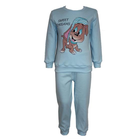 58723 Пижама с аппликацией для мальчика (интерлок) ГОЛУБОЙ СОБАКА