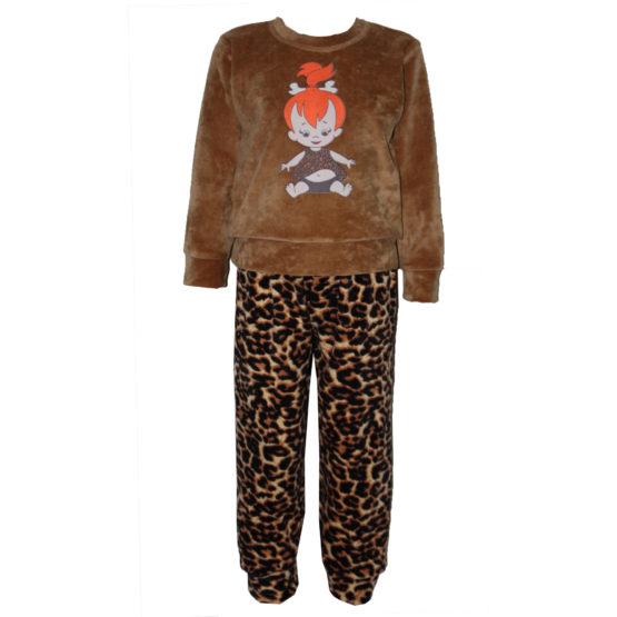 Арт. 21712, Пижама комбинированная для девочки (велюр)