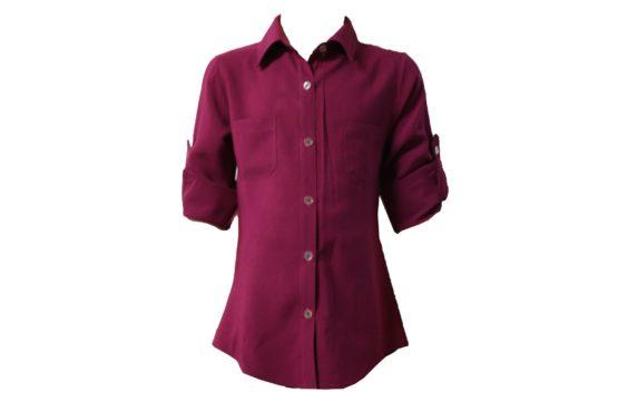 43150 Детская рубашка БОРДОВАЯ (штапель)