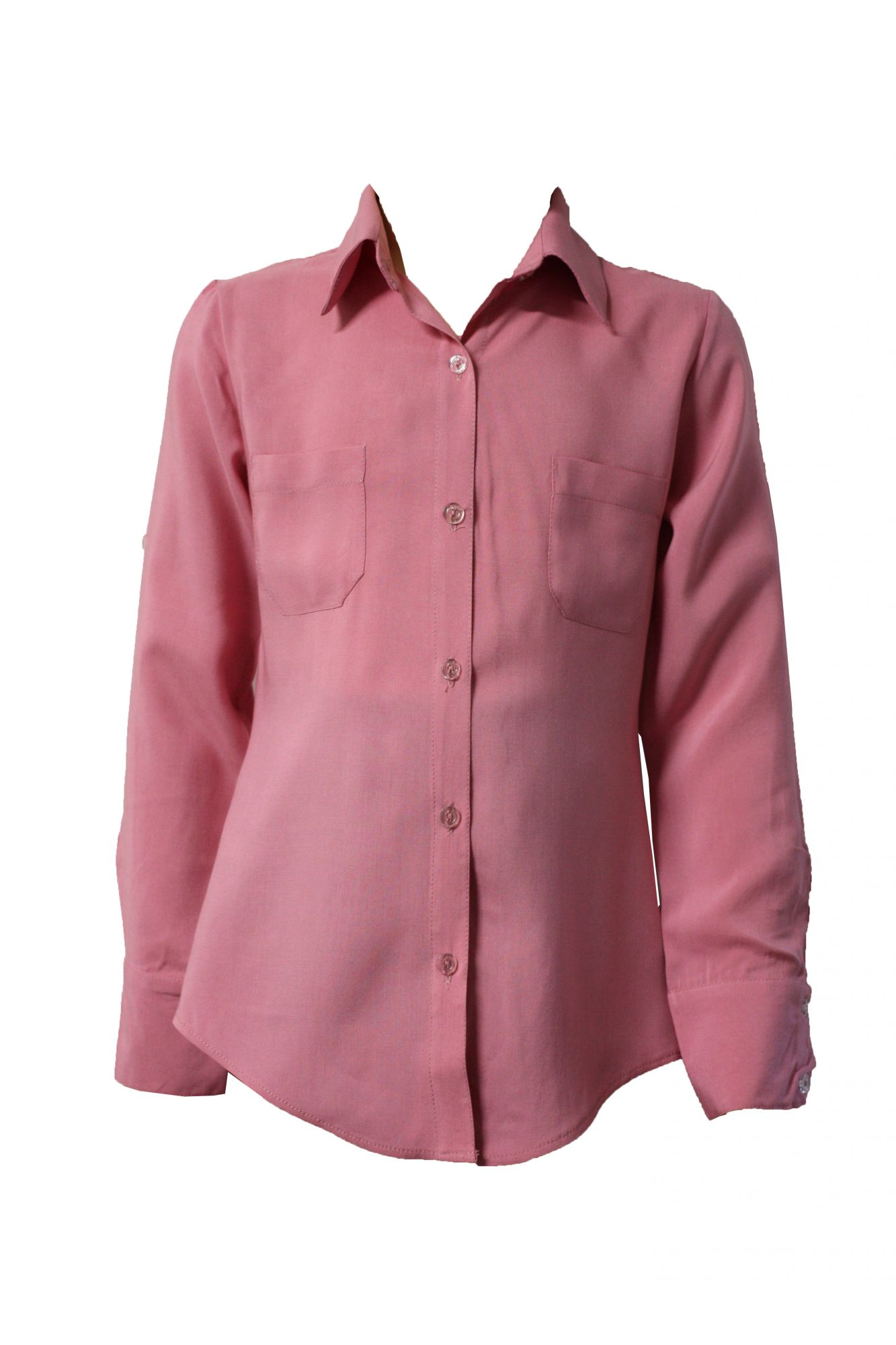 43150 Детская рубашка РОЗОВАЯ (штапель)