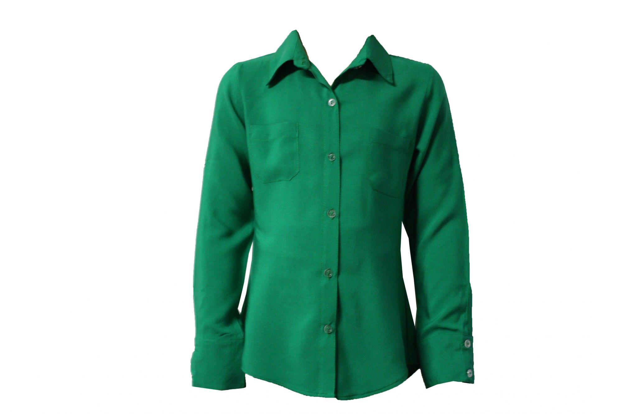 43150 Детская рубашка ЗЕЛЕНАЯ (штапель)