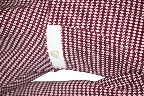 43677 Костюм леггинсы+блуза баска (креповый трикотаж) БОРДОВЫЙ