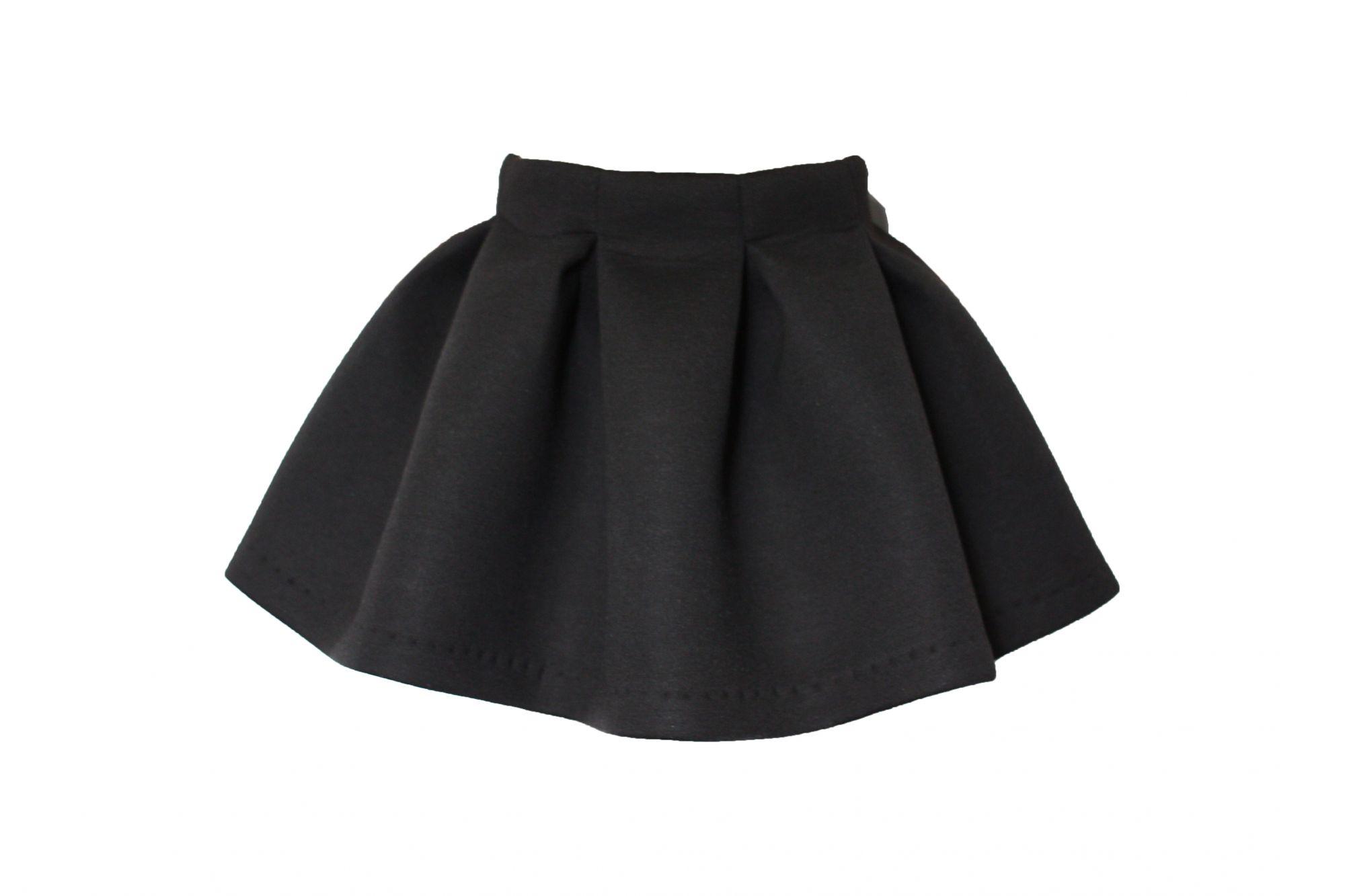 45682 Костюм для девочки бомбер+юбка (неопрен) ЧЕРНЫЙ