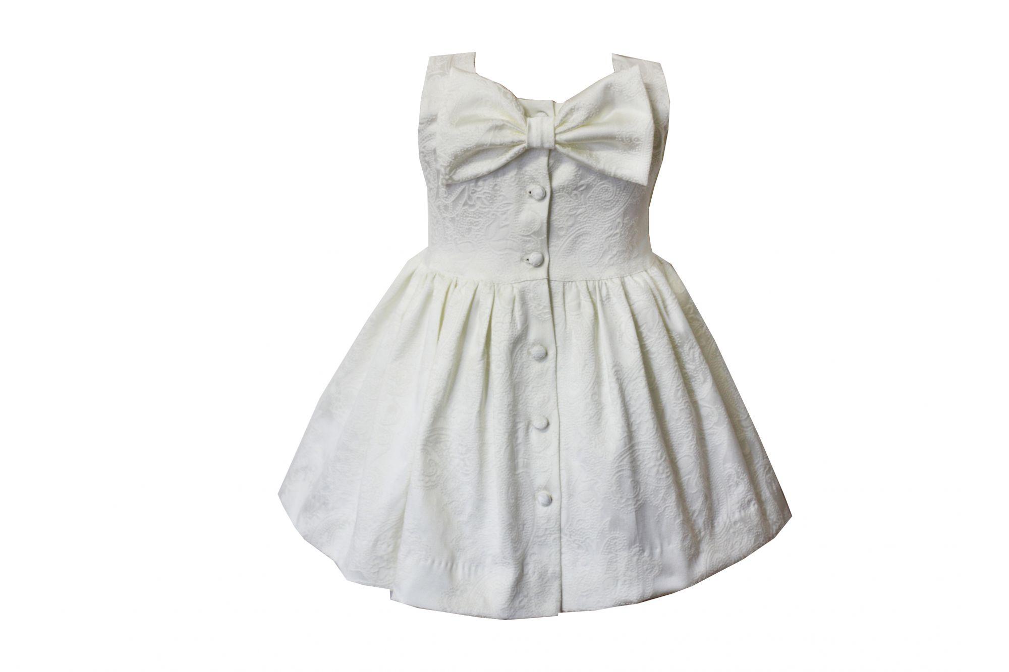 46669 Костюм тройка: Платье+трусы+повязка (жаккард) МОЛОЧНЫЙ