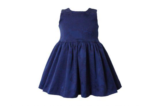 46669 Костюм тройка: Платье+трусы+повязка (жаккард) СИНИЙ