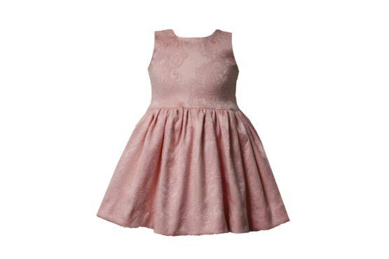 46669 Костюм тройка: Платье+трусы+повязка (жаккард) РОЗОВЫЙ