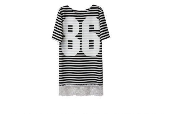 48071 Платье полосатое (креп)