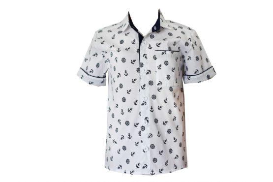 00047886 Рубашка для мальчика детская (поплин)