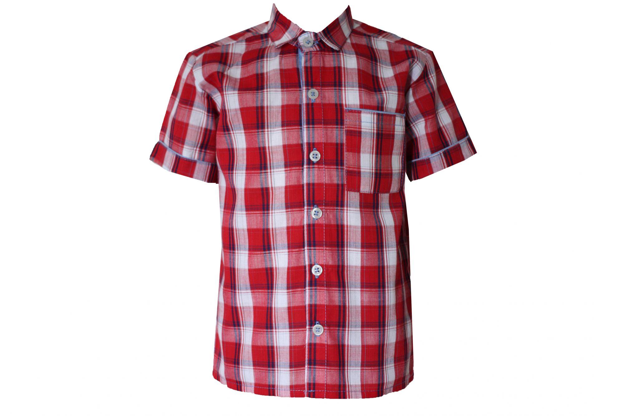 00047886 Рубашка для мальчика детская (клетка)