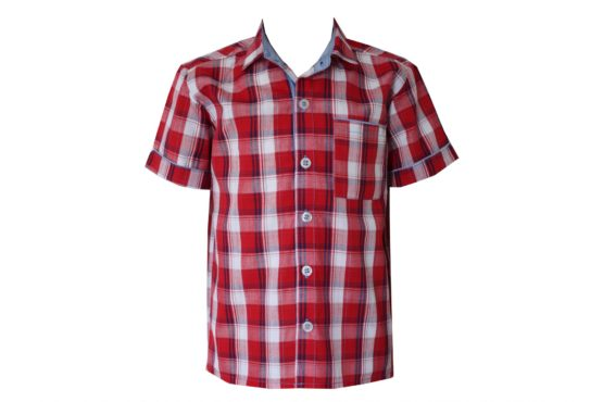 47886 Рубашка для мальчика детская (клетка)