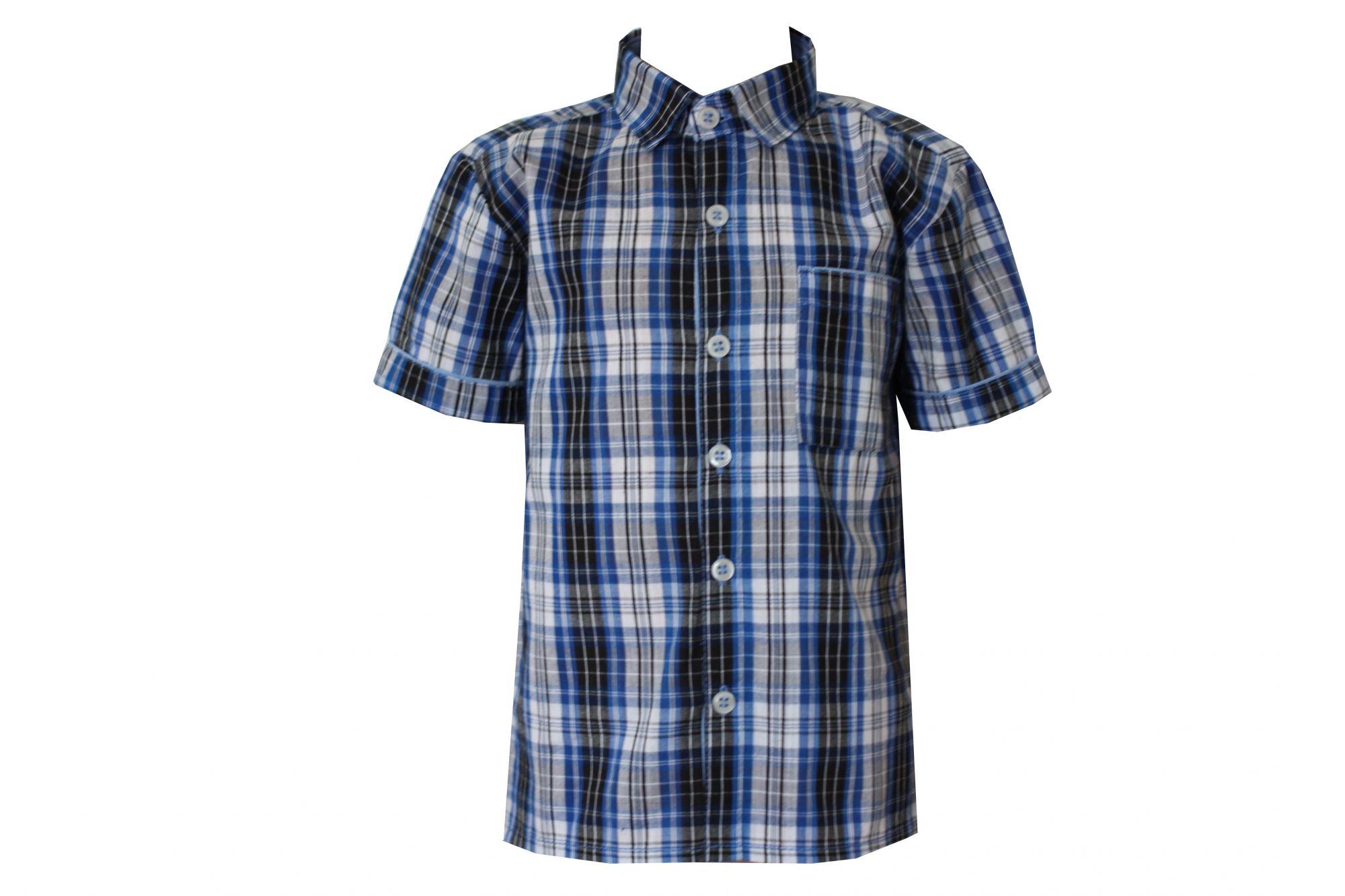 0047886 Рубашка для мальчика детская (клетка)