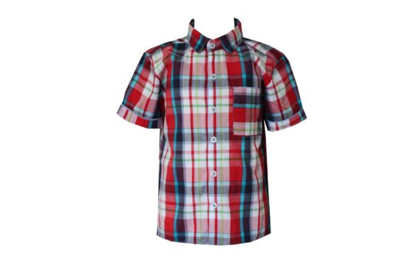 047886 Рубашка для мальчика детская (клетка)