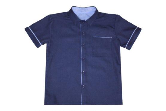 0047886 Рубашка для мальчика детская (джинс)