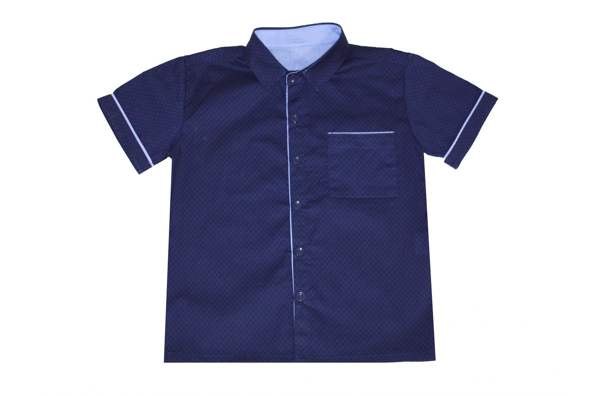 47886 Рубашка для мальчика детская (поплин)
