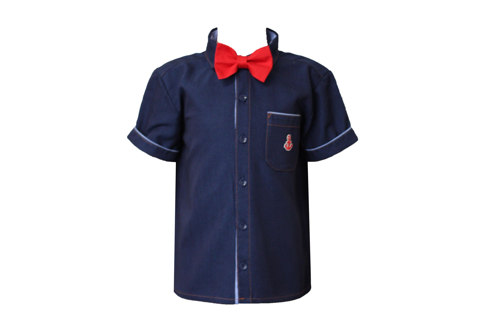 00047886 Рубашка для мальчика детская (джинс)