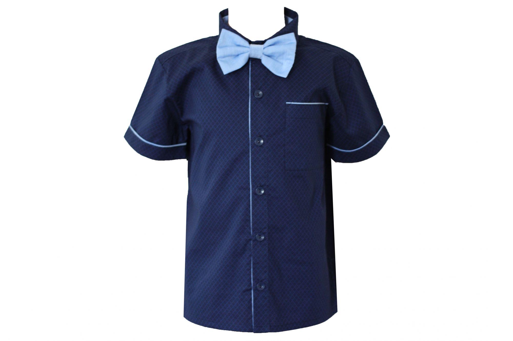 0047886 Рубашка для мальчика детская (поплин)
