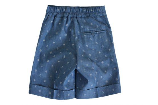 50086 Костюм «Классический» — жилетка, шорты, рубашка, бабочка (джинс)