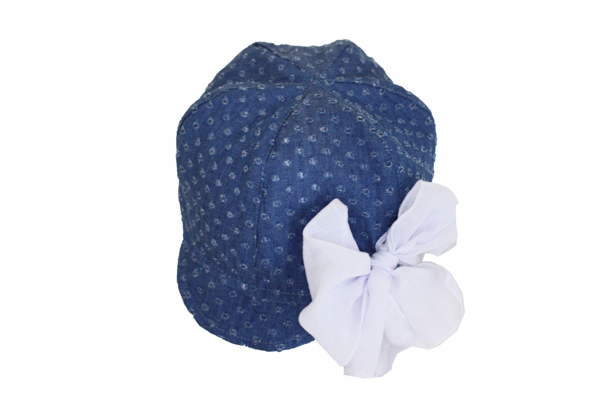 50690 Песочник+футболка+кепка для девочки (джинс)