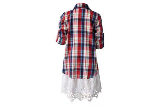 50364 Платье-рубашка с кружевом (коттон)