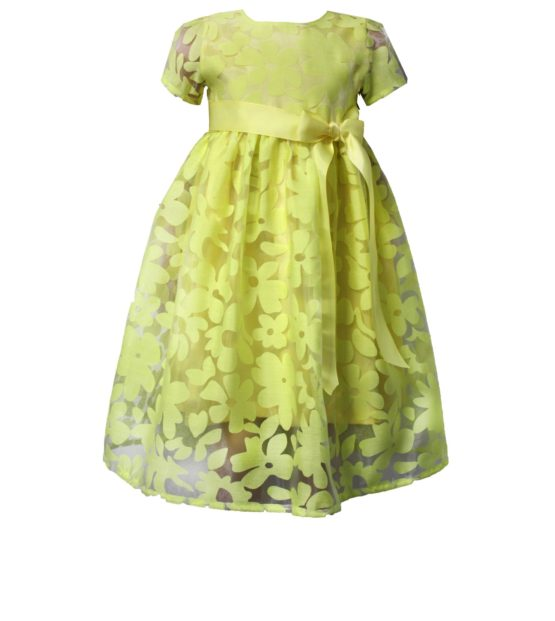 52194 Платье (органза) ЖЕЛТЫЙ